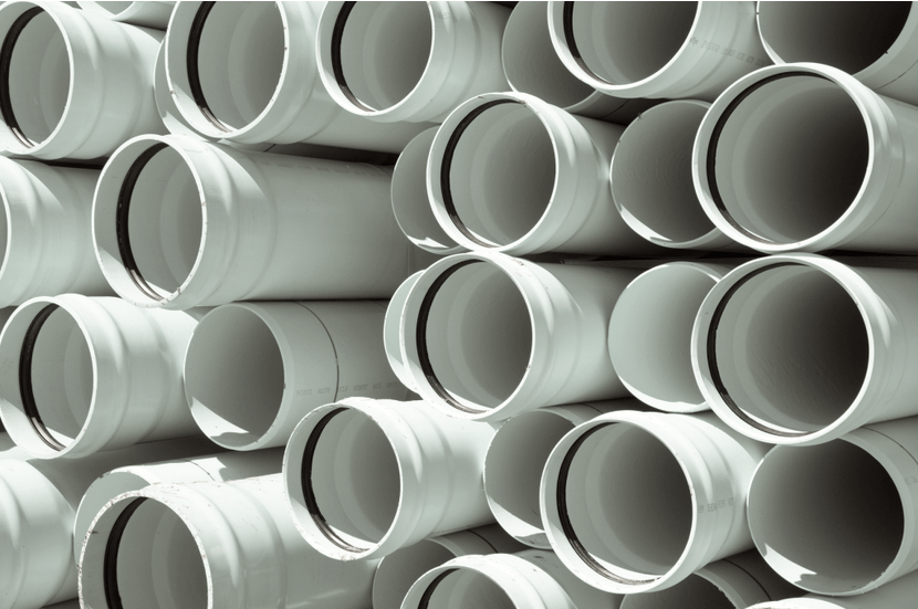 pipes in a stack